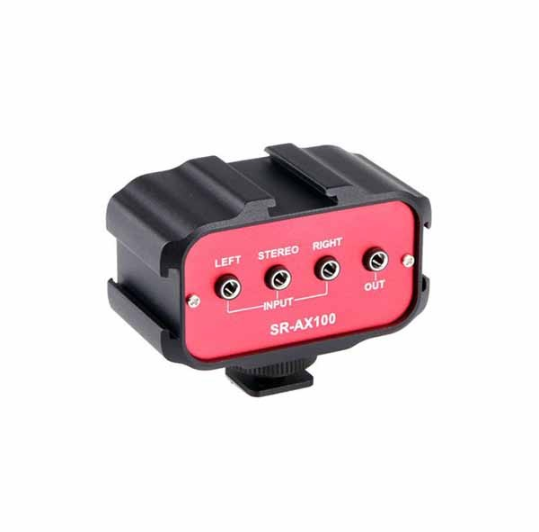 Мини аудио миксер с 2 моно и 1 стерео входове за DSLR фотоапарати и камери - Saramonic SR-AX100