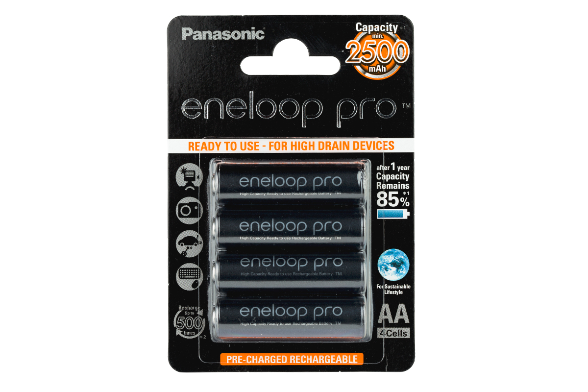 Panasonic Eneloop Pro 2500 mAh BK‑3HCDE‑4BE (блистер 4 бр.)