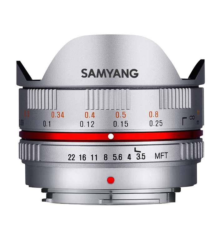Обектив Samyang 7.5mm F3.5 UMC Fish-eye MFT (Сребрист)