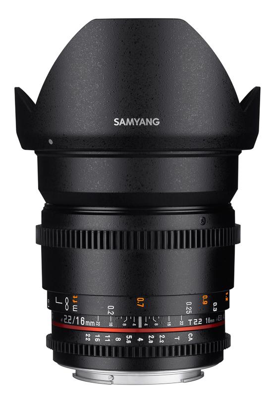 Обектив Samyang 16mm T2.2 VDSLR II ED AS UMC CS за Sony E