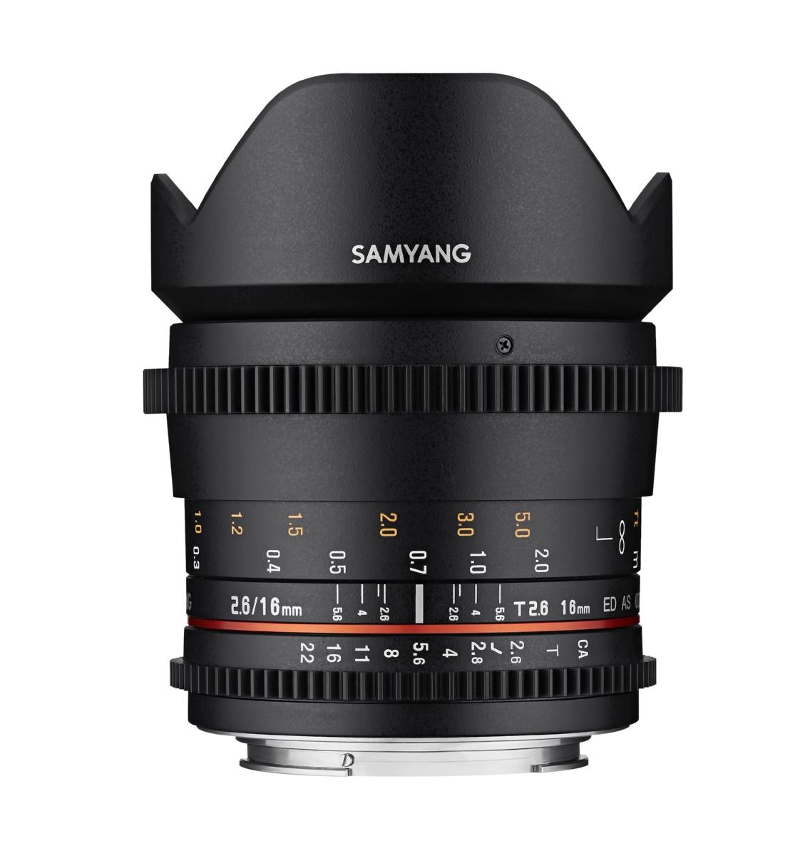 Обектив Samyang 16mm T2.6 VDSLR II ED AS UMC за Sony E