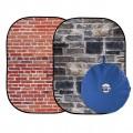 Сгъваем фон Urban Collapsible 1.5x2.1m Red Brick/Grey Stone