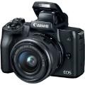 Фотоапарат Canon EOS M50 mark II + обектив Canon EF-M 15-45mm + батерия LP-E12