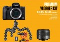 Фотоапарат Canon EOS M50 mark II + обектив Canon EF-M 15-45mm + Vlogger kit + батерия LP-E12