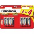 Panasonic Pro Power AA LR6-1.5V Комплект 4+4 бр. алкални батерии