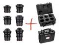 Комплект от 6бр. видеообективи Samyang VDSLR за Canon EF плюс подарък куфар