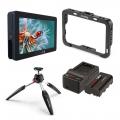 Комплект SmallHD Focus HMDI - 5 инчов монитор,клетка,батерия,зарядно у-во, статив и глава за монтиране