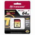 SD карта памет - Transcend 64GB SDXC Class10 UHS-I U3 (R95, W60 MB/s)