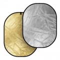 Отражателен диск 2 в 1 91х122 см сребристо/златно